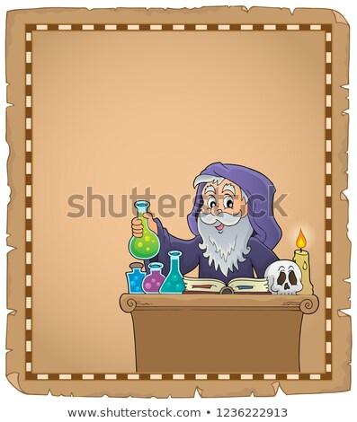 Sujet parchemin papier livre art table Photo stock © clairev