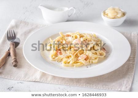 garnalen · pasta · groene · kaas · plaat - stockfoto © Alex9500