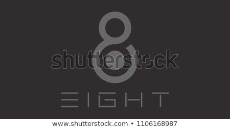 Szám nyolc logotípus logo vektor szimbólum Stock fotó © blaskorizov