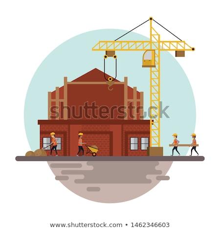 Munkások építkezés szerszámok nehézgépek emberek dolgoznak férfiak Stock fotó © diego_cervo