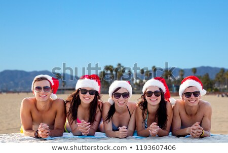 teenage girls or young women over venice beach Stock photo © dolgachov