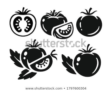 Tomato Ripe Veggie Isolated on White Vector Icon Stock photo © robuart