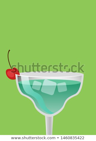 summer alcohol drinks advert poster blue cocktail stock photo © robuart