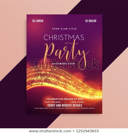 shiny christmas party flyer with light streak Stock photo © SArts