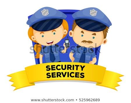 Baan twee veiligheid diensten illustratie man Stockfoto © colematt