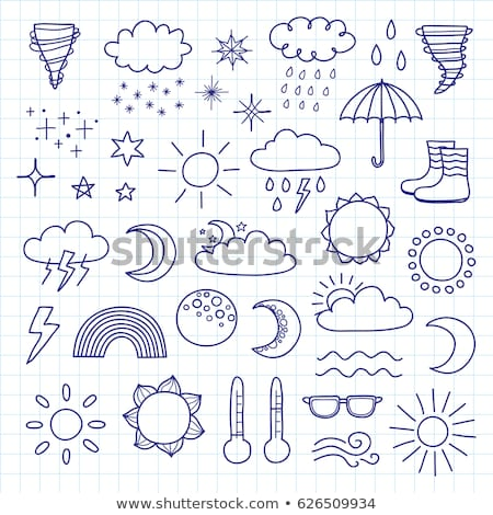 thunderstorm cloud hand drawn outline doodle icon stock photo © rastudio
