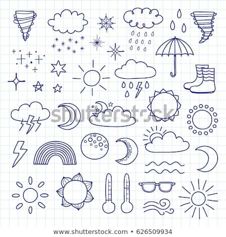 Foto d'archivio: Temporale · nube · contorno · doodle · icona