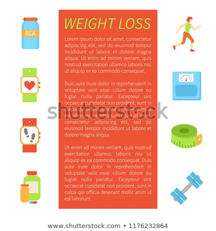 Weight Loss Pedometer Poster Vector Illustration Stock photo © robuart