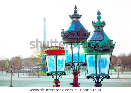 Lamp posts at Place de la Concorde in Paris Stock photo © boggy