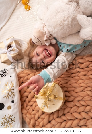 knitted blanket for a baby child Stock photo © Lopolo