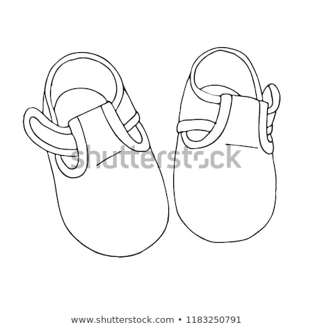 Baby shoes hand drawn outline doodle icon. Stock photo © RAStudio