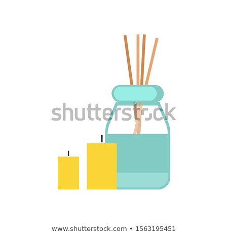 Sticks, Oil and Candles for Massage Cartoon Banner Stock photo © robuart