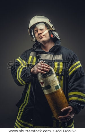 Oxygen tank and safety jacket Stock photo © colematt