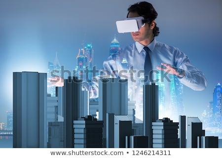 Futurista arquitecto urbanas planificación negocios ordenador Foto stock © Elnur