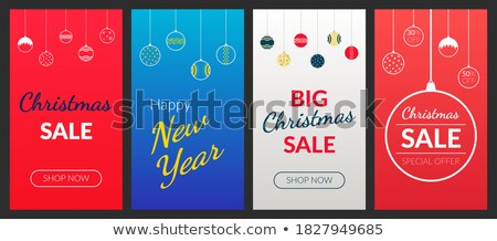 Final Christmas Sale and Discounts Off Price Set Stock photo © robuart