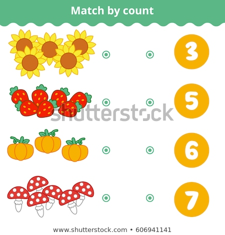 Counting numbers on strawberries Stock photo © colematt