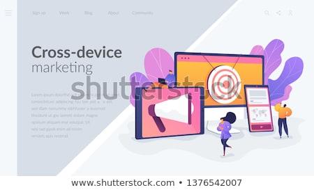 Marketing aterrissagem página megafone dispositivos Foto stock © RAStudio