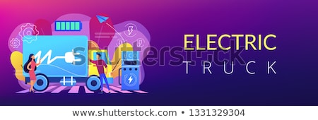 electric trucks concept banner header stock photo © rastudio