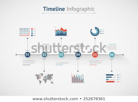 Infografica timeline informazioni vettore grafici dati Foto d'archivio © robuart