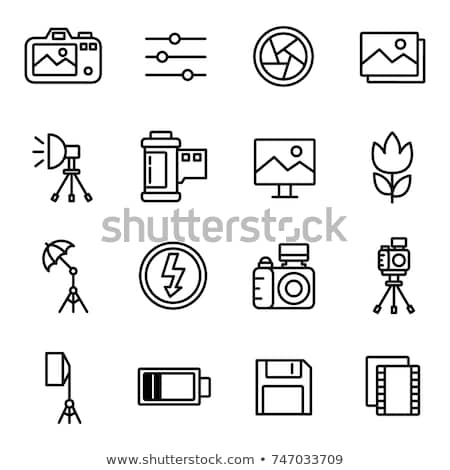 Icon of photo tripod Stock photo © angelp