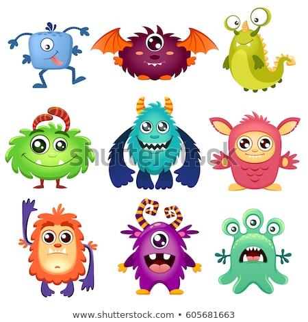 purple fantasy cartoon monster character Stock photo © izakowski