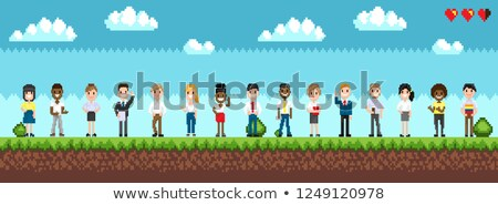 Character Selection for Playing Pixel Game Vector Stock photo © robuart