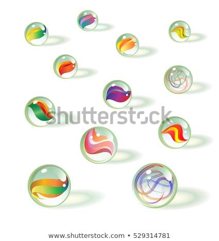 Vektör ayarlamak mermer top cam çizim Stok fotoğraf © olllikeballoon