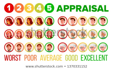 Five Steps Mood Appraisal Vector Icons Set Zdjęcia stock © pikepicture