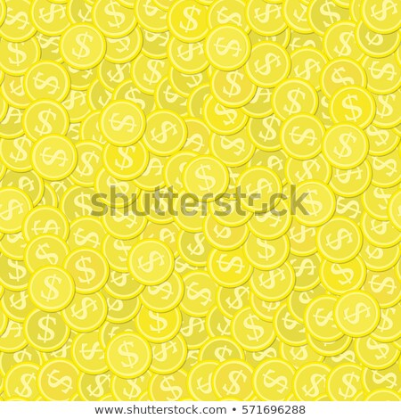 Gold Coin Seamless Pattern Vector. Money Currency. Banking Element. Cute Graphic Texture. Textile Ba Foto d'archivio © pikepicture