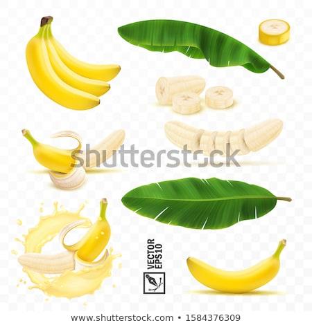 half · banaan · geïsoleerd · witte · voedsel - stockfoto © marysan