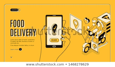 Food delivery service landing page template. Stock photo © RAStudio