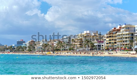 пляж · морем · мнение · синий · Средиземное · море · Мир - Сток-фото © amok