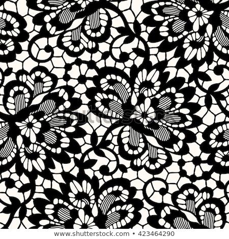 Retro csipke végtelen minta monokróm dekoráció díszítő Stock fotó © RedKoala
