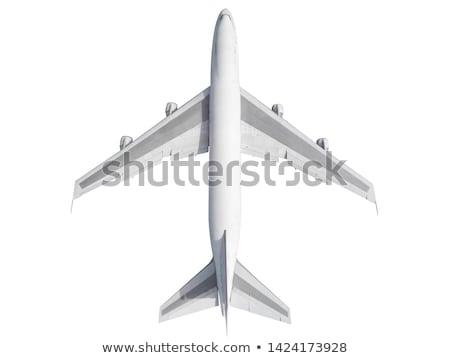 нижний самолет изолированный белый небе аэропорту Сток-фото © feverpitch