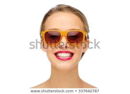 rot · Lipgloss · isoliert · weiß · Mädchen · Mode - stock foto © serdechny