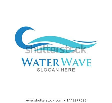 Wasser Welle logo Vorlage swirl Zeilen Stock foto © kyryloff