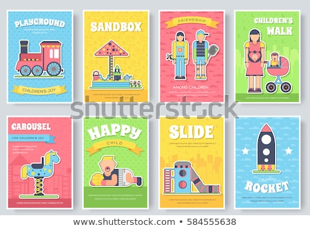 Banner template design with kids and book Stock photo © bluering