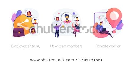 asian · gens · d'affaires · simple · vecteur · équipe · commerciale - photo stock © rastudio