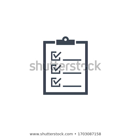 paper clip related vector glyph icon stock photo © smoki