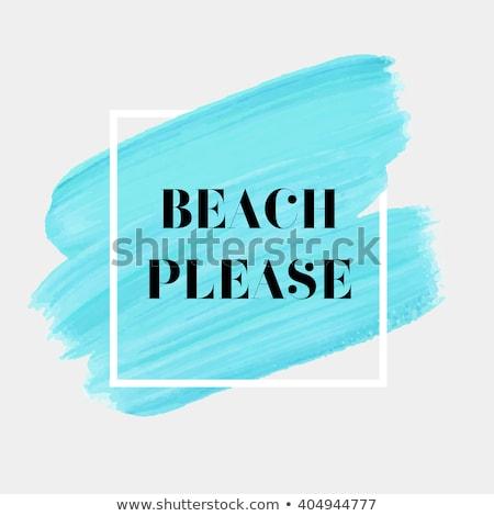 Vector Beach Canvas Frame Stock photo © dashadima