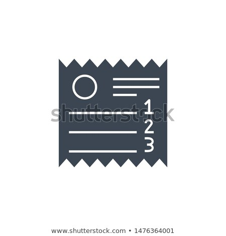 Sales Receipt related vector glyph icon. Stock photo © smoki