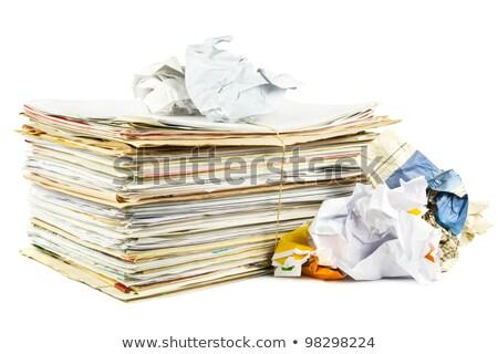 Stack of waste paper Stock photo © 5xinc