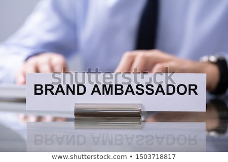 Male Hand Typing On Keyboard With Brand Ambassador Text Stock photo © AndreyPopov