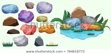 Kő kő sóder gyűjtemény szín szett Stock fotó © pikepicture