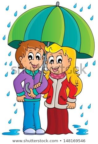 Girl in rainy weather theme image 1 Stock photo © clairev