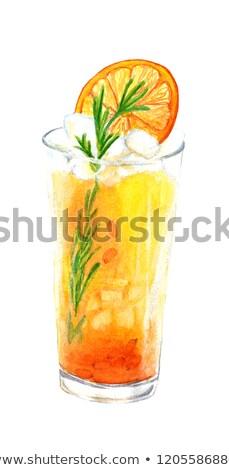 горячий · напиток · Ягоды · стекла · зима · чай · коктейль - Сток-фото © galitskaya