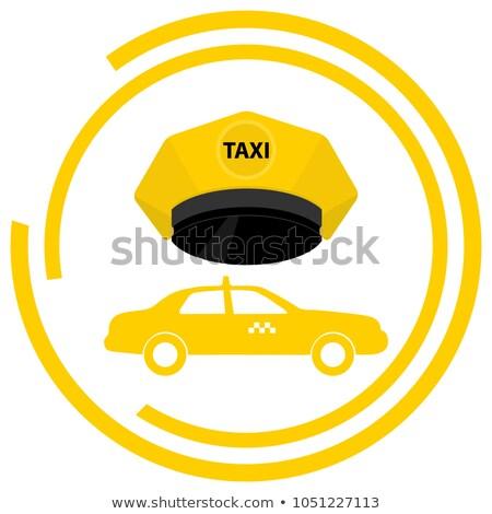 Taxi szolgáltatás embléma sablon dizájn elem logo Stock fotó © masay256