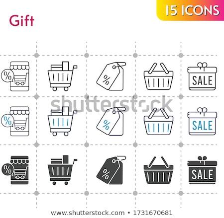 Iconos cesta de la compra comercio mercado móviles tienda Foto stock © Pixel_hunter