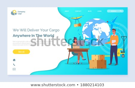 We Deliver Your Cargo Anywhere in World Website Stock photo © robuart