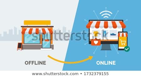 Online commerce winkelen internet verandering overgang Stockfoto © Lightsource